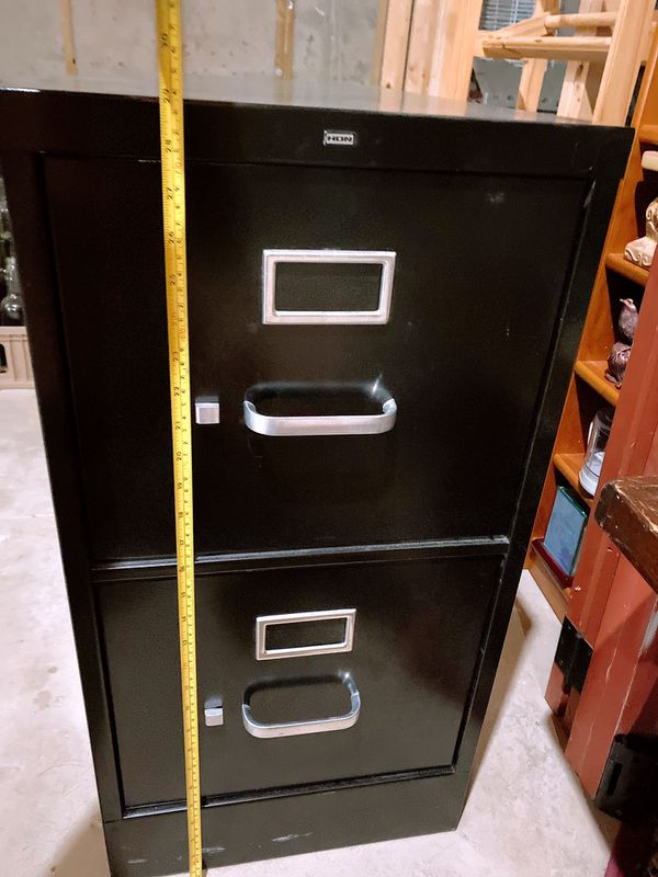 Filing cabinet Two drawers in black