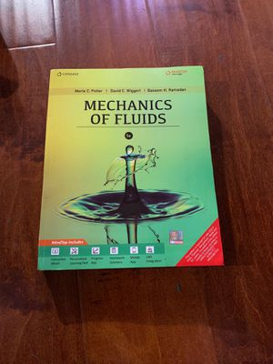Mechanics of Fluids with MindTap 5th Edition ISBN-13: 978-9386858122, ISBN-10: 9789386858122 for Sale in Diamond Bar, CA
