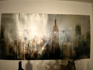 Large City Artwork Canvas 79x39 inches for Sale in San Bernardino, CA