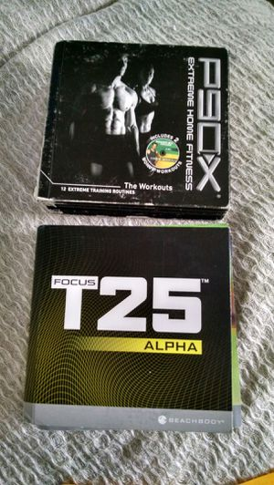 P90x and T25 workout dvd sets for Sale in San Ramon, CA