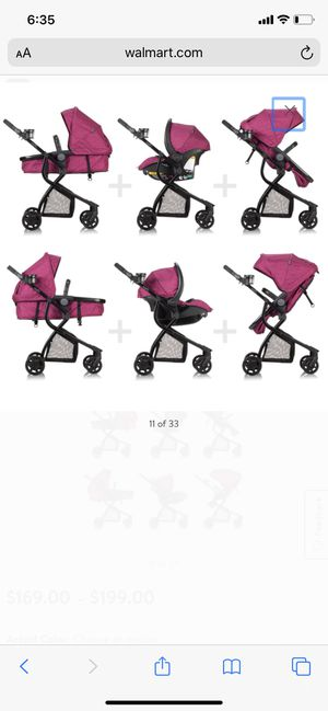 Evenflo Urbini Omni Plus Travel System with LiteMax Infant Car Seat, Raspberry Fizz Pink for Sale in Hayward, CA