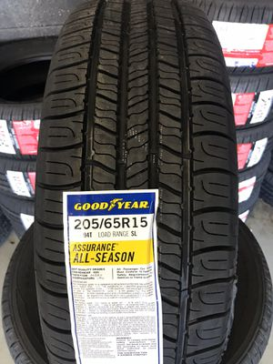 205/65/15 New set of Goodyear tires installed for Sale in Rancho Cucamonga, CA