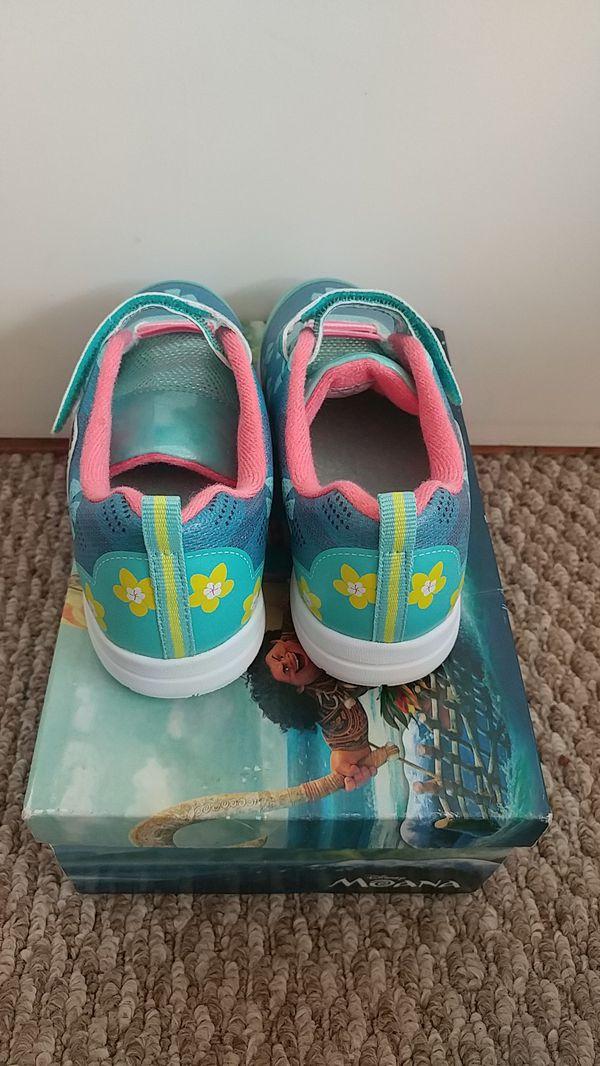 New Disney Princess Moana Sneakers Toddler Child Size 12