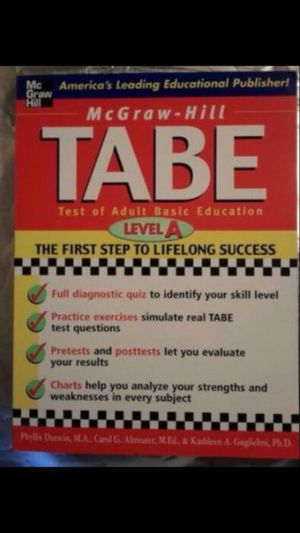 TABE Level A McGraw-Hill to pass GED. for Sale in San Diego, CA
