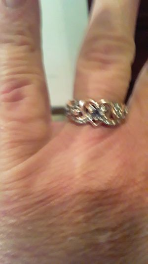Womens Rose Heart 925 Sterling Silver Ring Not Stamped for Sale in Omaha, NE