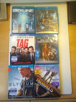 Blue ray Tag , Mutant Chronicles , Elysium , Skyline , the Covenant , Tremors 5 bloodline for Sale in Los Angeles, CA