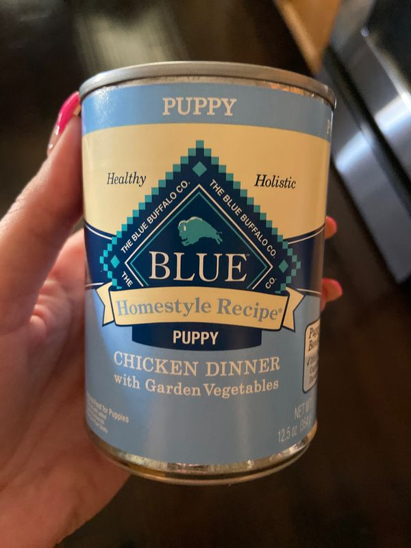 2 unopened cans of blue buffalo puppy soft food FREE