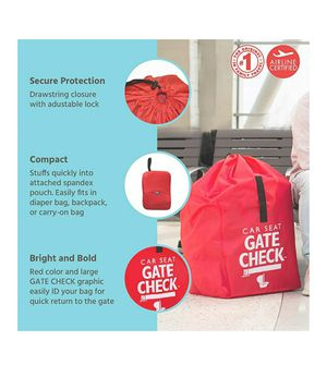 Childress Gate Check Bag for Car Seats - Air Travel Bag - Fits Convertible Car Seats, Infant carriers & Booster Seats, Red for Sale in Louisville, KY