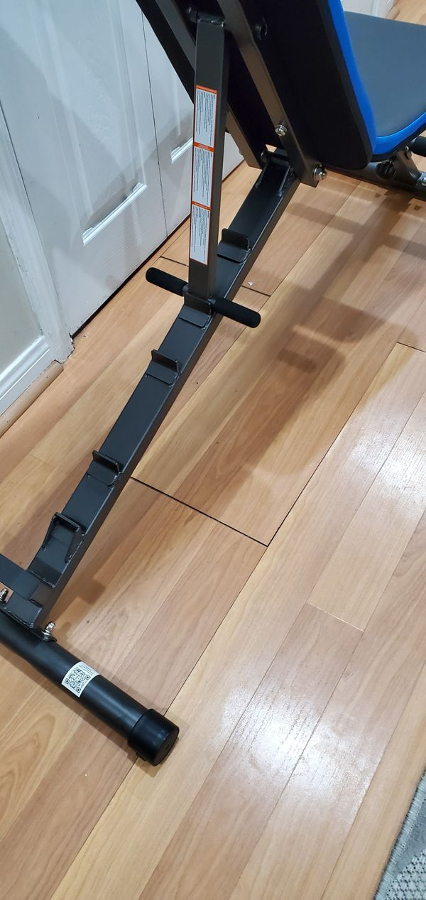 *New* 12-Position Adjustable Weight bench multiple Incline, flat and decline 800 lb Capacity also available in black / blue color