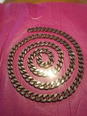 """46"""" Long x 1/2"""" wide Golden Square Hammered Links x Purse Chain for Sale in San Diego, CA"""