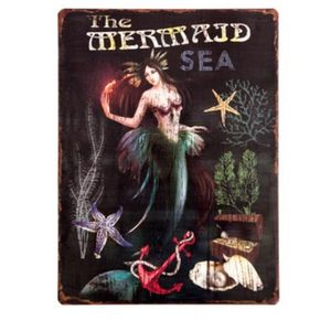 "Brand New! 14"" H - Vintage Style Metal Mermaid Sign for Sale in Miami, FL"