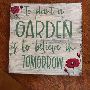 Garden Sign for Sale in Muncie, IN