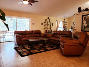 Leather couch set for Sale in Clermont, FL