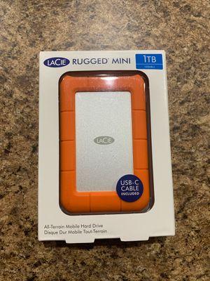 LaCie LAC301558 Rugged Mini USB 3.0 Portable External HD, Orange, 1TB for Sale in Orlando, FL