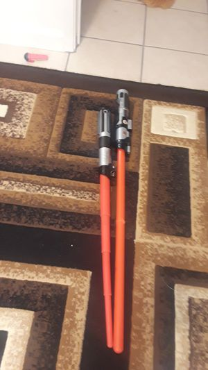 3 lise sabers only 1 has 1 battery for Sale in Newark, CA