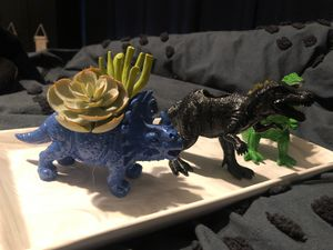 Set Of 3 Dinosaur Planters - Dinosaur Room Decor - Fake Plants - Succulents for Sale in Nolanville, TX