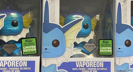 Funko Pop Valporeon Pokémon Diamond Exclusive for Sale in Wheeling,  IL