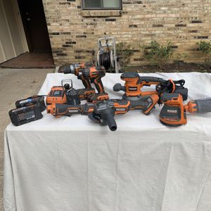 Rigid power tools. Sanders, drill driver, impact, router, grinder, Job Max for Sale in Fort Worth, TX