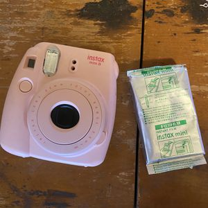 Pink Instax 8 Polaroid Camera With Film for Sale in Beavercreek, OR