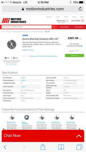 Aurora spherical bearings, unit ball for Sale in Lemon Grove, CA