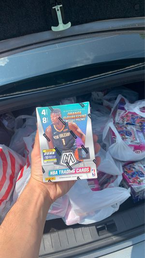 2019-2020 panini mosaic blaster boxes and Topps baseball bowman mega box (46 boxes total) for Sale in Marietta, GA
