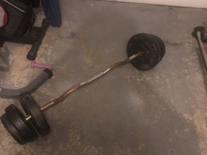 1 inch curl Bar 60 pounds of weight for Sale in NJ, US