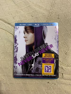 Justin Bieber Never Say Never Blu-Ray DVD for Sale in Queens, NY