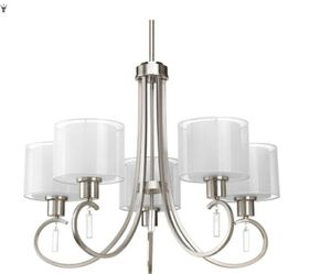 Progressive lighting brushed nickel 5 light chandelier for Sale in Humble, TX