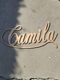Camila Wood Name for Sale in Lynwood,  CA
