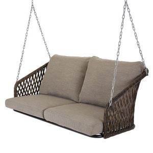 Mainstays Battle Creek Outdoor Wicker Porch Swing with Cushions grey color for Sale in Houston, TX