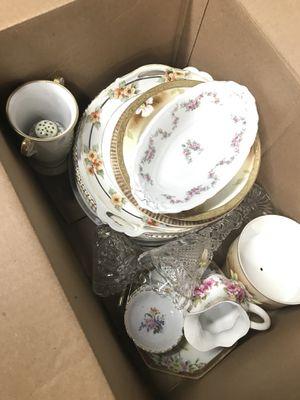Box of antique china for Sale in Pompano Beach, FL