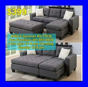 sectional sofa with ottoman for Sale in Houston, TX