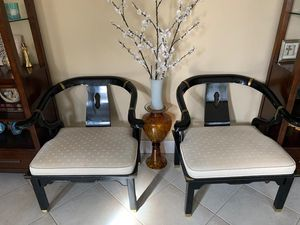Antique Asian horseshoe chairs Century company for Sale in Lake Worth, FL