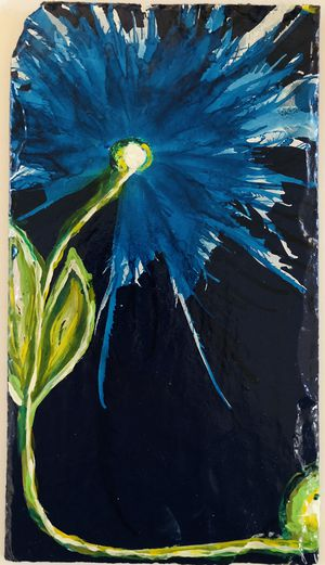 Hand Painted Floral Flowers Slate Ready to Hang Artwork for Sale in Crofton, MD