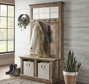Hall Tree Storage Bench with Hangers and Open Storage for Sale in ROWLAND HGHTS, CA