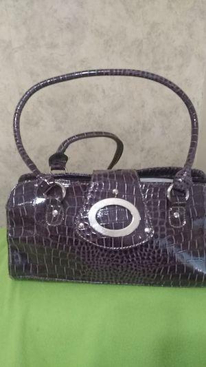 "Dark purple ""alligator"" purse for Sale in Newton, KS"