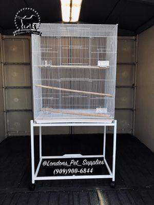 NEW! White 8 Door bird cage with stand for Sale in Colton, CA