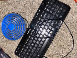 Logitech Keyboard +Computer Fan +Mouse pads ($34 or best offer) for Sale in Modesto, CA
