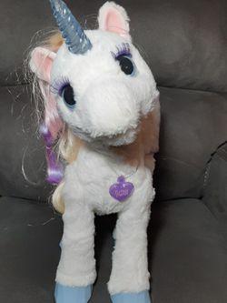 FurReal Friends StarLily My Magical Unicorn - Lights & Sounds by Hasboro for Sale in Atlanta,  GA