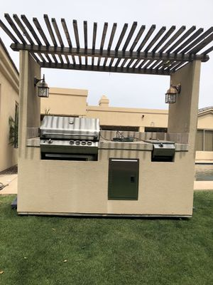 BBQ Island with grill, burner and drawers for Sale in Mesa, AZ