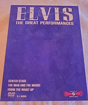 ELVIS...THE GREAT PERFORMANCE...3 DVD SET..2002 for Sale in Lusby, MD