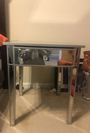 """ONE!!! New glass big side table. 24"""" wide by 28"""" tall. for Sale in Rockville, MD"""