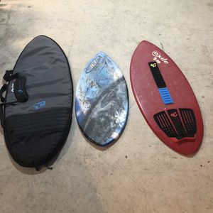 Skimboards With Bag for Sale in Ashford, CT