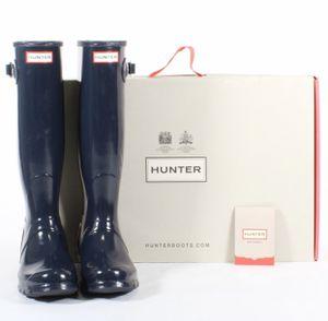 Hunter Women's Original Tall Gloss Rain Boots Navy Blue Size 7 for Sale in Marysville, WA