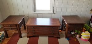 3 piece wood coffee table and side tables for Sale in Virginia Beach, VA
