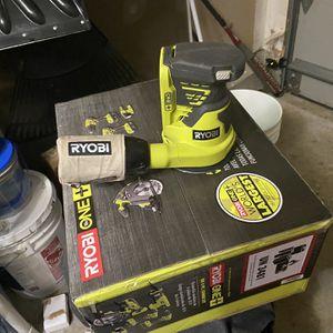 6pc Ryobi tool set circular saw, zig saw, impact drill, drill, multi tool, flashlight and used palm sander(used 2x) for Sale in Fieldsboro, NJ