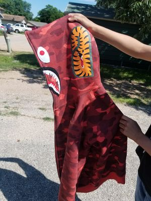 Red camo bape hoodie for Sale in Austin, TX