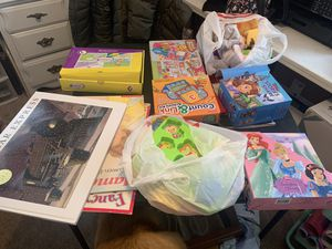 Books, puzzles, learning games and puppets for Sale in Roselle, IL
