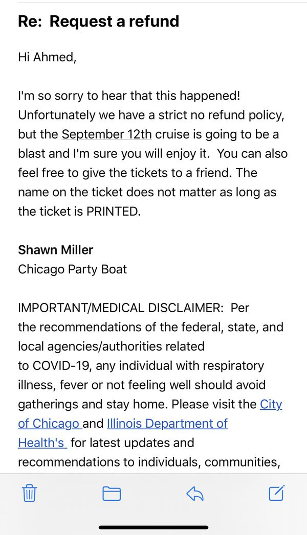 Chicago Skyline Cruise on sep 12 ( 8 pm - 11 pm )