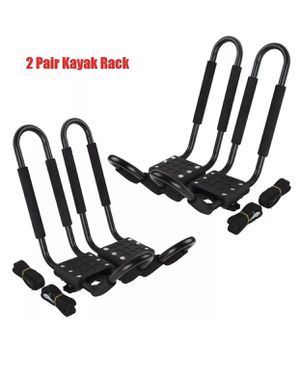 2 Pairs Universal Roof J-Bar Rack Kayak Boat Canoe Car SUV Top Mount Carrier New for Sale in Brooklyn, NY